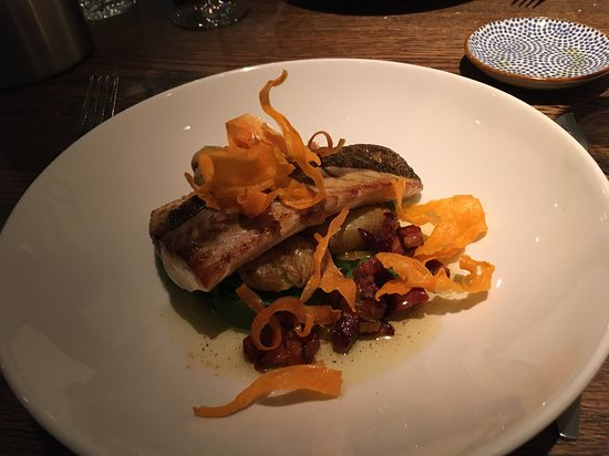 incredible mullet with potatoes and crisp carrots