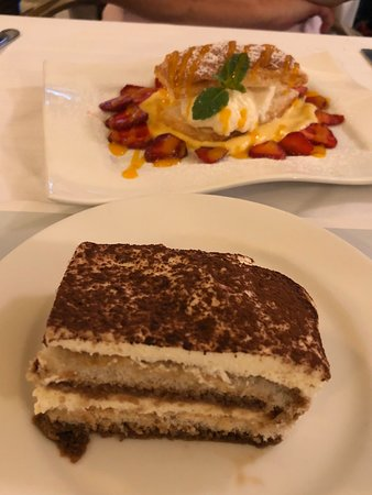 Main course and dessert