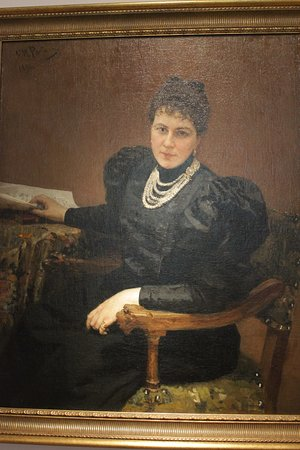 Портрет  Тенишевой кисти Репина