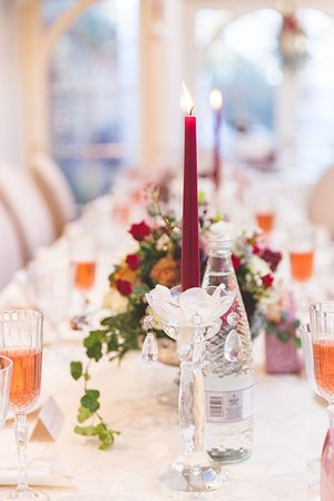 Wedding reception dining table