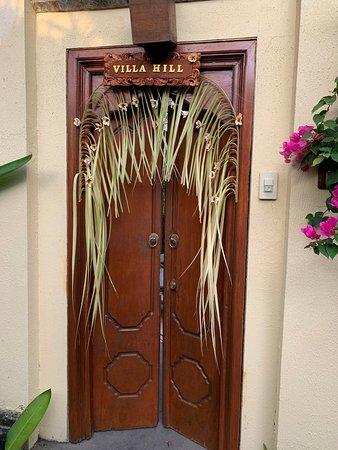 Door to our beautiful villa