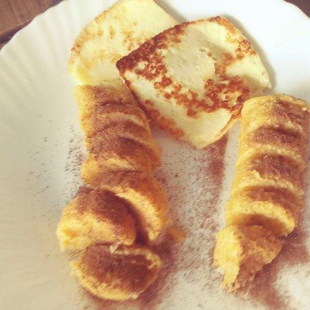 Jaru: Porção queijo banana e canela