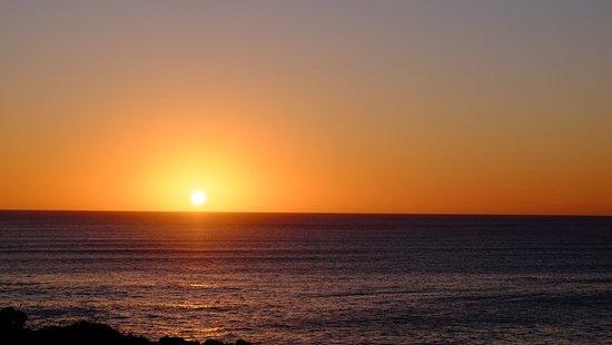 De Kelders, Zuid-Afrika: Sonnenuntergang von der Terrasse