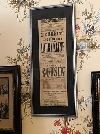 Original playbill from the play Lincoln and his wife were watching when he was shot