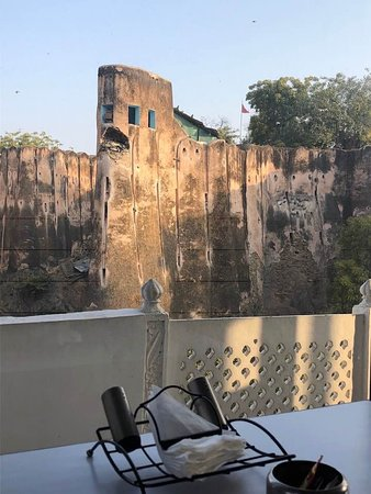 View from the restaurant terrace - wonderful 1700s fortress next door.
