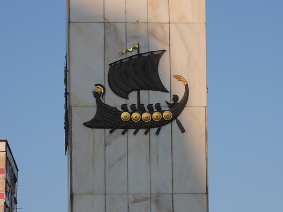 Batumi - Europa plein - Jason en zijn Argonauten op de voet van het Medea monument