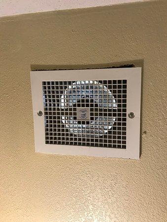 Air vent filthy.