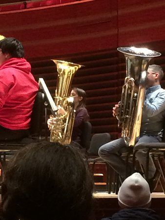 My daughter at the Kimmel Center during the annual Tuba Play-In hosted by Ms Carol Jantsch, Principle Tuba, Philadelphia Orchestra.