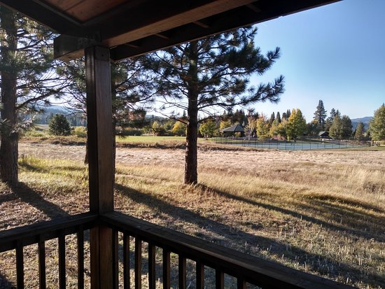 Clio, CA: View from our cabin.