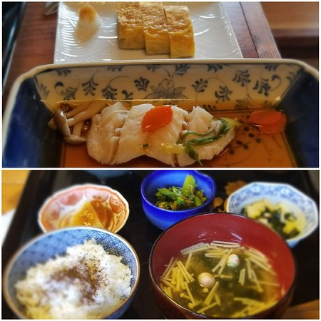 Japanese Breakfast.  A few items missing here as we were too hungry!