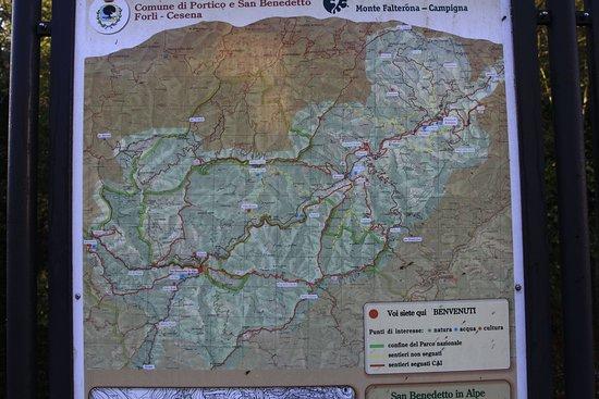 San Benedetto in Alpe, Ιταλία: Mappa
