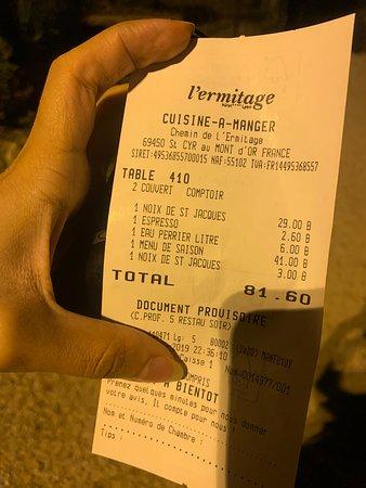 Saint Cyr au Mont d'Or, Frankrijk: fuyez le resto ! horriblement cher et bruyant et lent - ne vaut clairement pas ces prix !