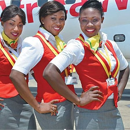 Tamale, Ghana: Our cabin crew with beautiful smiles