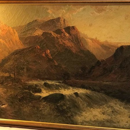 Oil on canvas - we stock 100s of pieces of artwork both Antique and Vintage.  Suit all tastes and pockets.