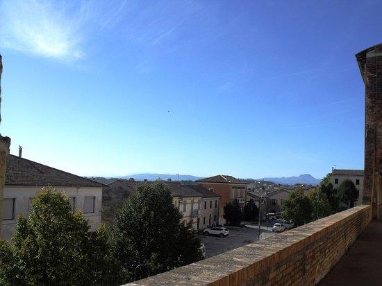 Vista verso ovest  e Monte San Vicino