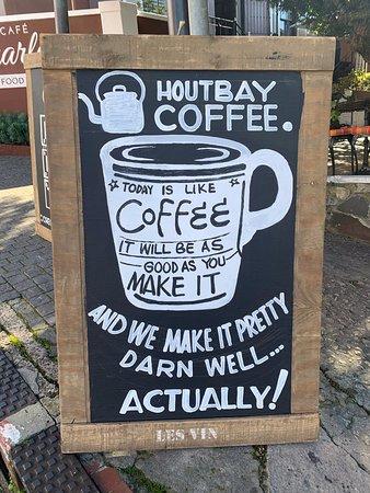 Houtbay Coffee served at Café Charles