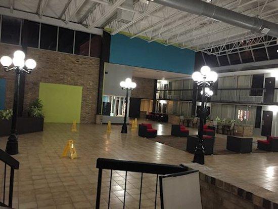 Pool atrium area -- huge!