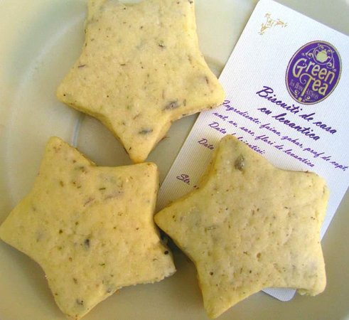 Homemade biscuits with lavender