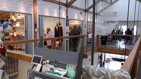 Upper floor artisan booths