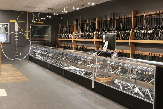 Wide selection of firearms.