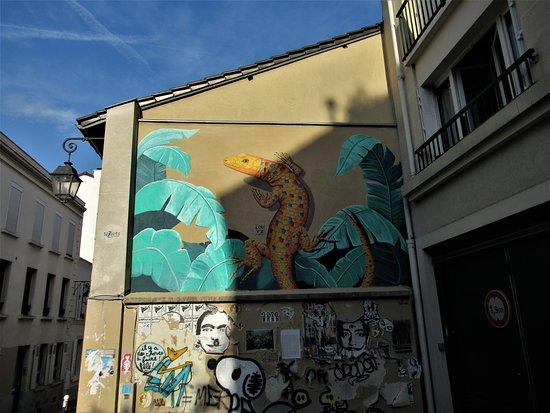 "Fresque ""Le lézard"""