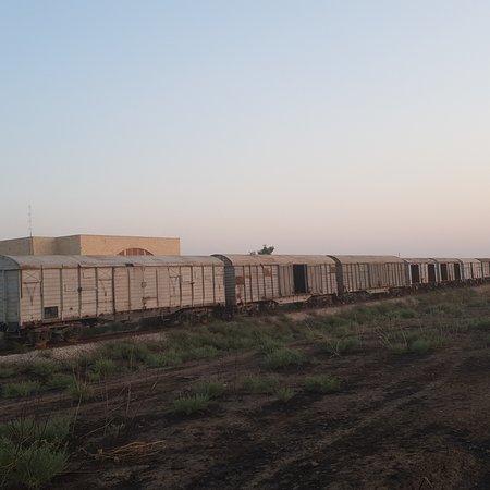 A abandoned train in Kirkuk