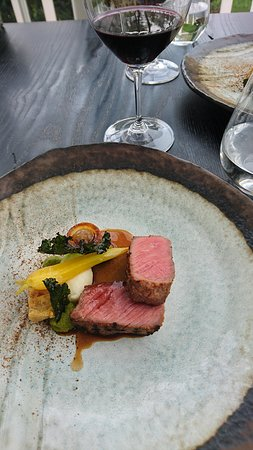 Aged beef, sweetbreads, carrot, onion, pap, coriander, morogo. With Eagles Nest merlot.