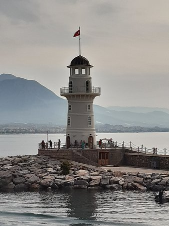 Lighthouse at the port of Alanya
