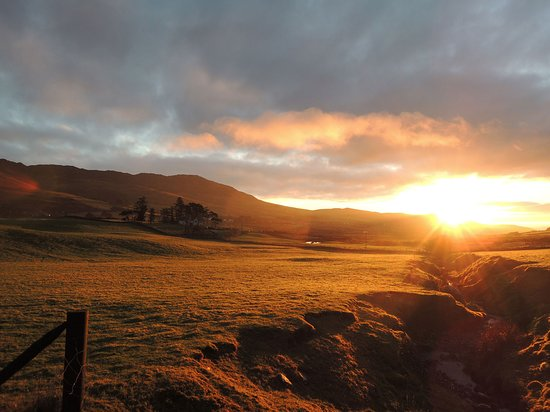 Sunrise on our meditation walk in winter