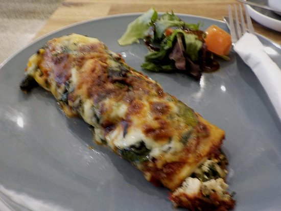 spinach and cheese canneloni