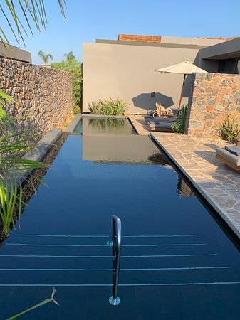 These are the private pools with our rooms side by side - amazing!