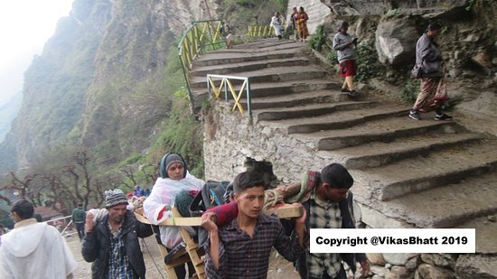 Yamunotri Yatra From Rishikesh: The last 2 kms are steep full of stairs that tax your patience and knees  more than endurance.