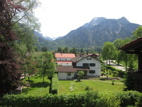 view from room (Neuschwanstein Castle on left but is hidden by trees)