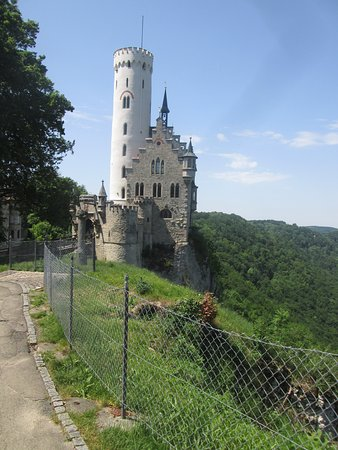 small fairy-tale castle in a lovely area