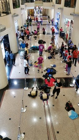 BASE Jumpers preparing their parachutes at Wisma Building at Ground Level