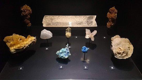 Minerais em exposição