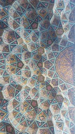 Shiraz, Iran: Pink mosque vault