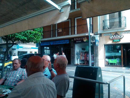 Locals in square