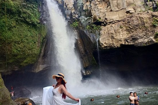 Cascada de Ubud, columpio y campo de...