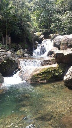 waterfall near the bridge