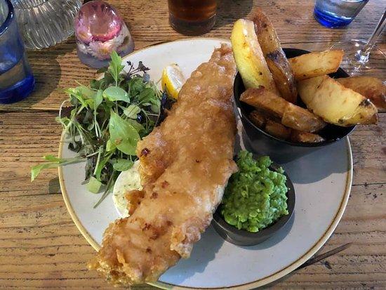 Godney, UK: fish and chips