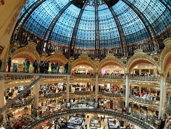 The Galeries Lafayette is worth a quick peep.