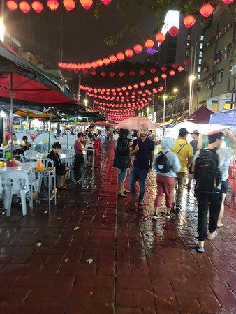 Food street outside Hotel