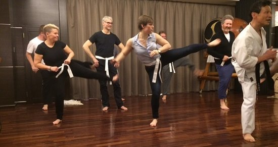 Karate with the Grand Master