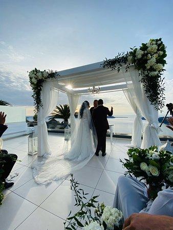 The most perfect venue EVER! - Foto Le Ciel Restaurant, Santorini - Tripadvisor