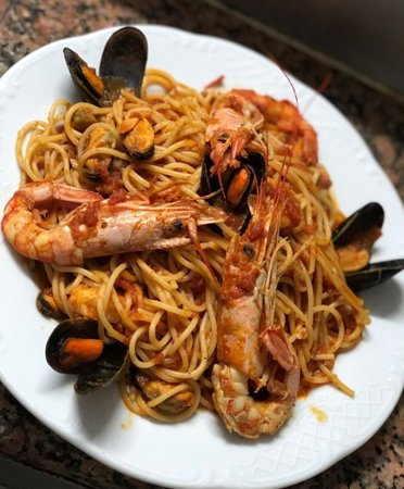 Manouba Governorate, Tunezja: Spaghetti crevettes