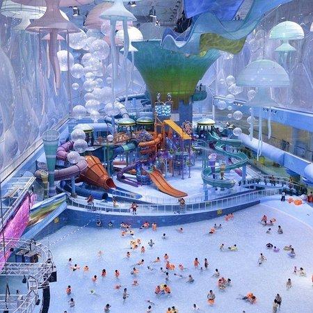 Beijing, Kina: Parco acquatico nella piscina olimpica