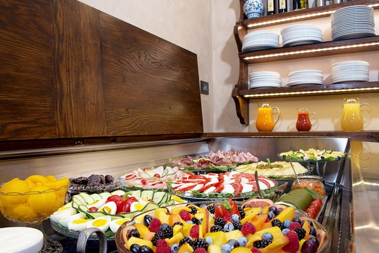 The wide selection of our breakfast buffet