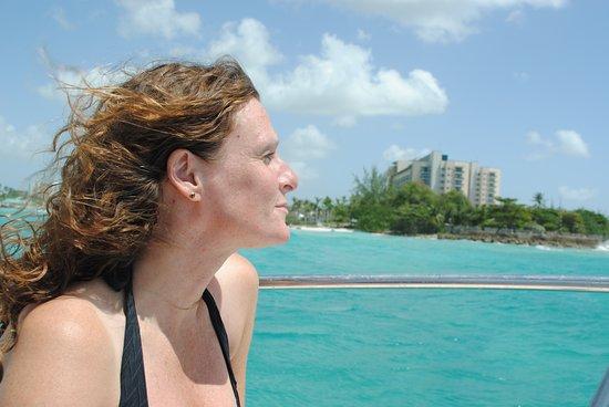 Cruises: Liz searches the horizon!