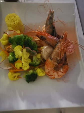 King prawn and scallops
